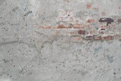 Packade väggar av övergiven byggnad, del en kan se murverk, bakgrund Royaltyfri Foto