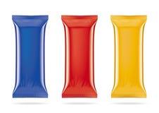 Packaeges coloridos do gelado ilustração do vetor