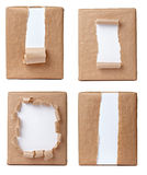 Package. Collection of various views of a wrapped box on white background. each one is shot separately royalty free stock photo