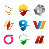 Package of Abstract Corporate Symbols. Vector Illustration Graphic Design Stock Photography