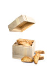 Package of almond cookies, cantucci biscuits Royalty Free Stock Photography