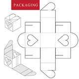 Package for bakery.Vector Illustration of Box. royalty free illustration