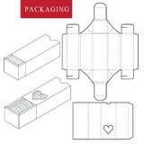 Package for bakery.Isolated White Retail Mock up.No glue vector illustration