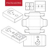 Package for bakery.Isolated White Retail Mock up royalty free illustration