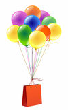 Package and balloons Royalty Free Stock Photo
