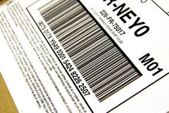 Package bar code Stock Photo