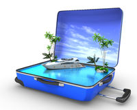 Package beach vacation concept yaht Royalty Free Stock Image
