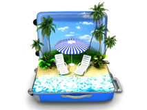 Package beach vacation Stock Photography