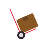 Package box cart delivery shipping icon. Vector graphic Stock Photos