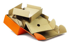 Package Box and Packing Card Boards Royalty Free Stock Photography