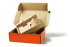 Package Box and Packing Cardboard Stock Image