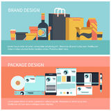 Package and brand design Royalty Free Stock Photo