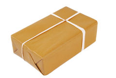 Package brown isolated Royalty Free Stock Image