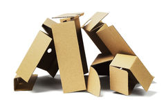 Package Cardboard for Recycling Royalty Free Stock Photo