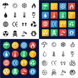 Package Or Cargo Marks Icons All in One Icons Black. This image is a vector illustration and can be scaled to any size without loss of resolution Stock Images