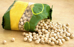 Package with chickpeas Stock Image
