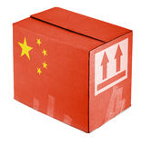 Package from China. On white background Stock Images