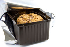 Package of chocolate cookies Royalty Free Stock Image