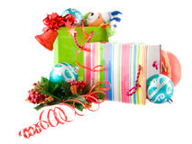 Package with christmas gift extremely shallow DoF Royalty Free Stock Photo