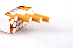 Package of cigarettes stock image