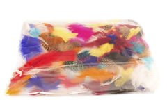 Package of colorful feathers Royalty Free Stock Photo