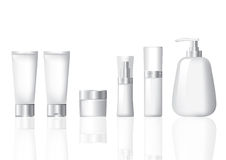 package cosmetic silver set Royalty Free Stock Images