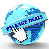 Package Deals Indicates Fully Inclusive And Bargain Royalty Free Stock Image