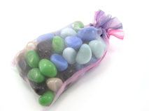 Package with decorative stones Royalty Free Stock Photos