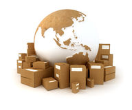 Package delivery Asia stock illustration