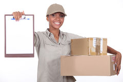 Package Delivery. Needs to be signed for Royalty Free Stock Images