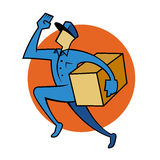 Package Delivery Service Man Royalty Free Stock Photos