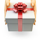Package delivery service, present a gift concept Royalty Free Stock Image