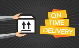 Package delivery vector background Royalty Free Stock Photo