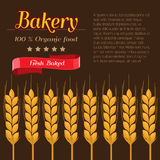 Package design for Bakery. Flat and solid design vector illustration Stock Photo