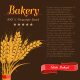 Package design for Bakery. Flat and solid design vector illustration Stock Image