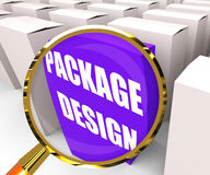 Package Design Packet Infers Designing Packages or Containers. Package Design Packet Inferring Designing Packages or Containers Royalty Free Stock Images