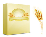 Package design. Wheat flour or Pasta Stock Images