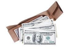 Package and dollars Stock Photo