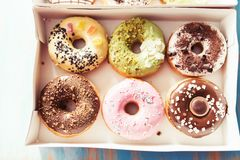 A package of donuts Stock Image
