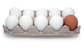 Package with eggs Stock Image