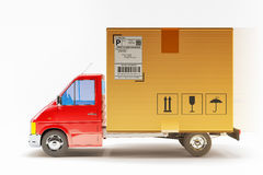 Package express delivery service, freight transportation and cargo shipping concept Royalty Free Stock Photography