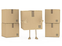 Package figur Royalty Free Stock Photos