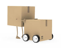 Package figure Stock Images