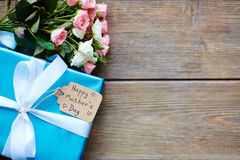 Package and flowers Royalty Free Stock Photography