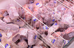 Package frozen meat Stock Images