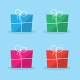 Package Gift Colors. Package gift in various colors Stock Photos