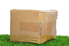 Package on the grass Stock Photos