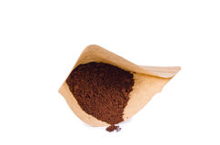 Package of ground coffee. On a white background it is isolated Stock Photography