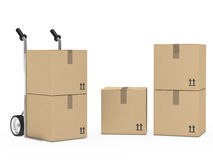 Package hand truck Royalty Free Stock Images