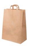Package handles of brown recycled cardboard Stock Photo
